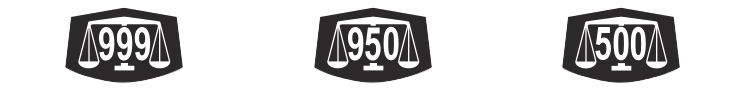L-R: Palladium 999, Palladium 950, Palladium 500
